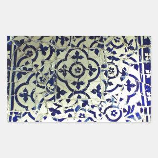 Azulejos de mosaico Barcelona de Guell do parque Adesivo Retangular