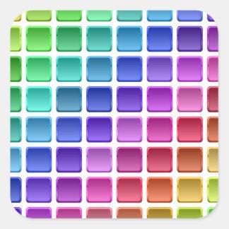 Azulejos do arco-íris adesivo quadrado