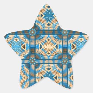 Azulejos do azul e do ouro adesivo