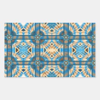 Azulejos do azul e do ouro adesivo retangular