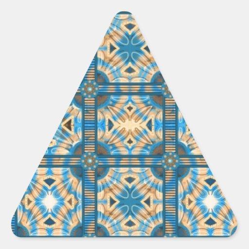 Azulejos do azul e do ouro adesivos triângulo