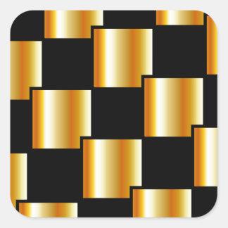 Azulejos dourados adesivo quadrado