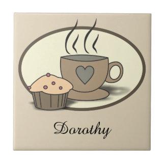 Azulejos feitos sob encomenda do café e do muffin