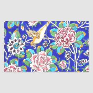 Azulejos floridos adesivo retangular