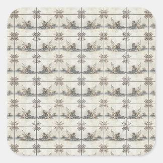 Azulejos holandeses 4 adesivo quadrado