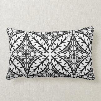 Azulejos marroquinos - branco e preto travesseiros de decoração