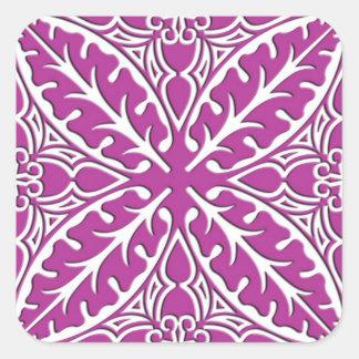 Azulejos marroquinos - orquídea e branco adesivo quadrado