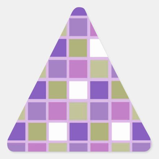Azulejos para a arrelia adesivos em forma de triângulo
