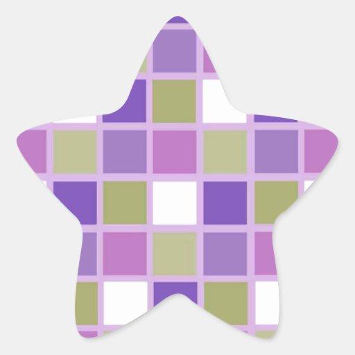 Azulejos para a arrelia adesivos em forma de estrelas
