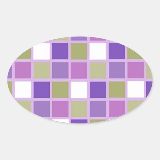 Azulejos para a arrelia adesivos oval