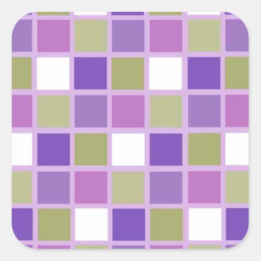 Azulejos para a arrelia adesivo em forma quadrada