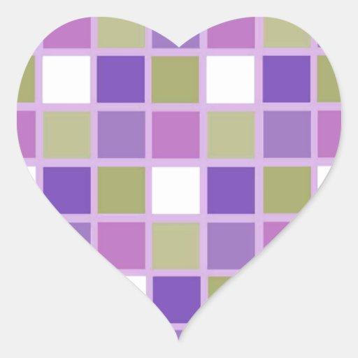 Azulejos para a arrelia adesivo em forma de coração