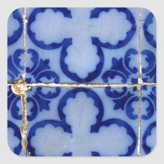 Azulejos, Portuguese Tiles Adesivo Quadrado
