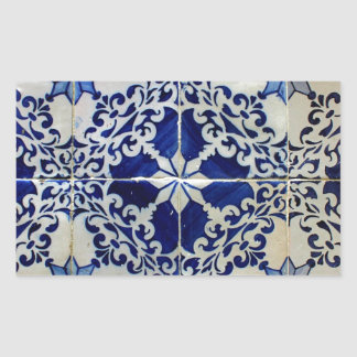 Azulejos, Portuguese Tiles Adesivo Retangular