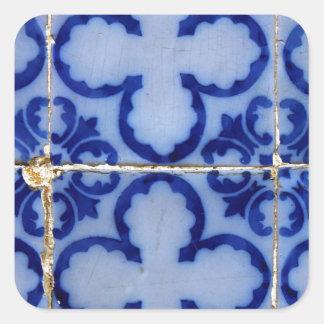 Azulejos, Portuguese Tiles Autocolante Quadrado