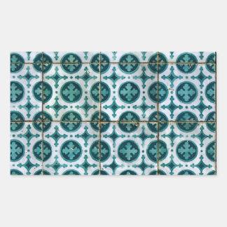 Azulejos, Portuguese Tiles Autocolante Em Forma Retangular