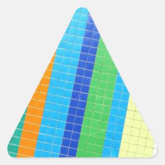 Azulejos, Portuguese Tiles Autocolante Em Forma De Triângulo