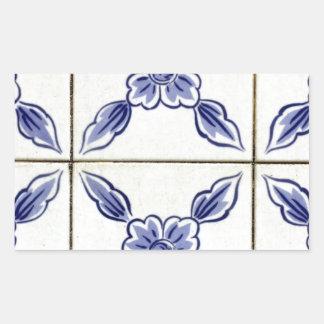 Azulejos, Portuguese Tiles Autocolante Em Formato Retângular