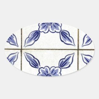 Azulejos, Portuguese Tiles Autocolantes Em Formato Oval