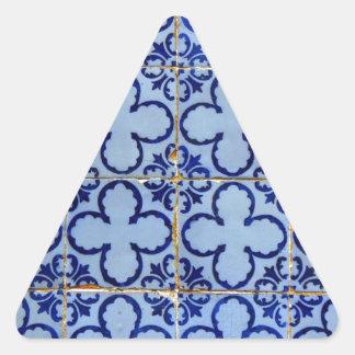 Azulejos, Portuguese Tiles Autocolante Triângulo