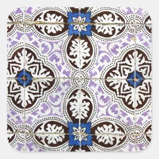 Azulejos, Portuguese Tiles Autocolante Em Forma Quadrada