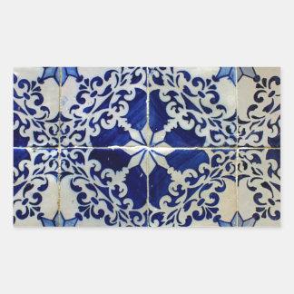 Azulejos, Portuguese Tiles Autocolante Retângular