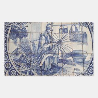 Azulejos portugueses do azulejo adesivo retangular