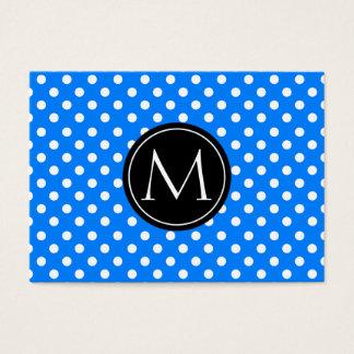 Azure - teste padrão de bolinhas do monograma cartão de visitas