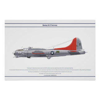 B-17G EUA 4BS 1 POSTER