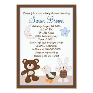 B é para o convite do chá de fraldas do urso/urso