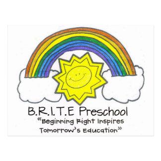 B.R.I.T.E. Pré-escolar Cartão Postal