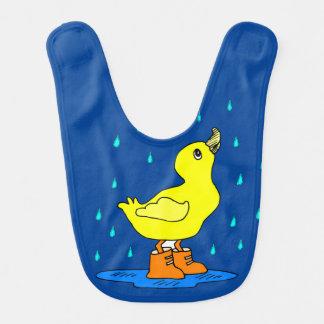 Babador bonito do bebê azul do pato