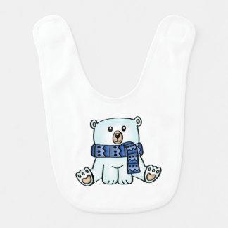 Babador bonito do bebê do urso polar