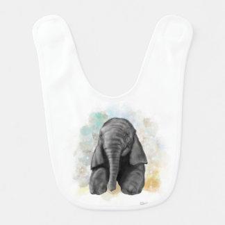 Babador de assento do elefante do bebê
