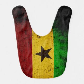 Babador De Bebe Bandeira preta de Ghana do Grunge