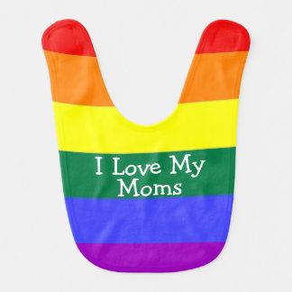 Babador De Bebe Bebê do orgulho eu amo minhas mães
