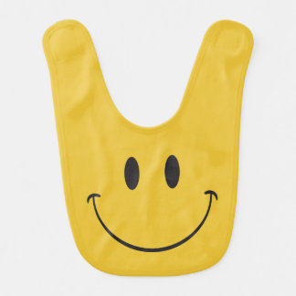 Babador De Bebe Cara feliz Emoji do sorriso grande super