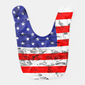 Babador De Bebe Design metálico 2 da bandeira americana