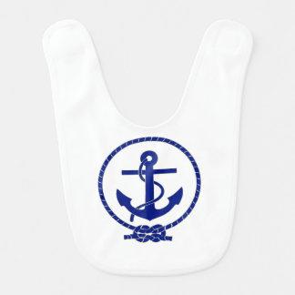 Babador De Bebe Design náutico firme ancorado da âncora