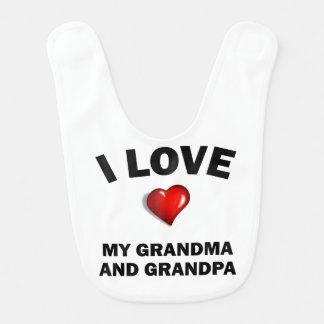 Babador De Bebe Eu amo meus avó e vovô