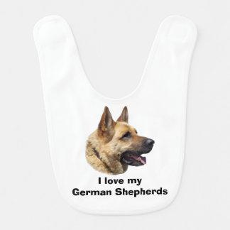 Babador De Bebe Retrato Alsatian do cão de german shepherd