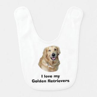 Babador De Bebe Retrato da foto do cão do golden retriever