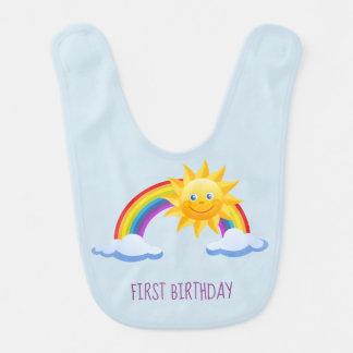Babador do arco-íris do aniversário