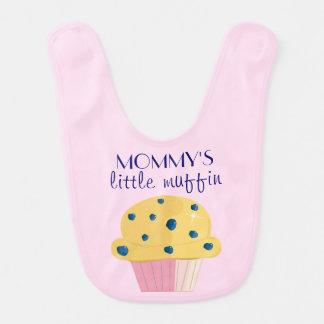 Babador do bebé do muffin da mamã pouco