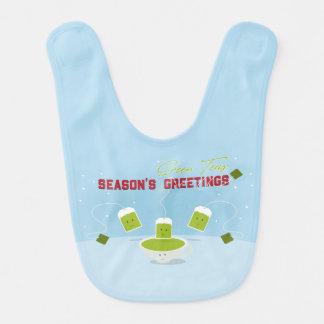 Babador do bebê dos chás verdes | da estação