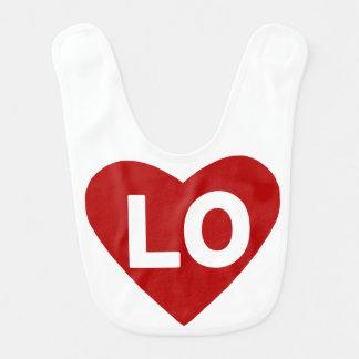 Babador do coração de LO {amor} para gêmeos
