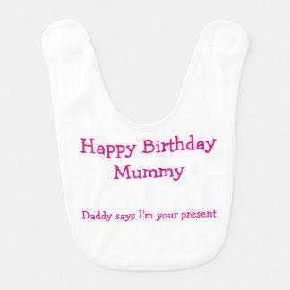 Babador engraçado do bebê do aniversário para a