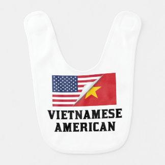 Babador Infantil Bandeira americana vietnamiana