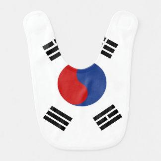 Babador Infantil Bandeira de Coreia do Sul