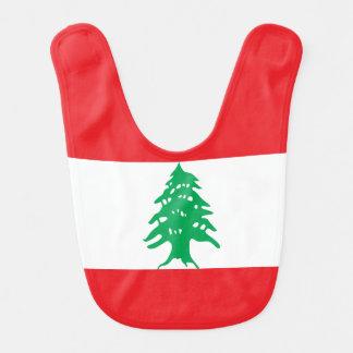 Babador Infantil Bandeira de Líbano